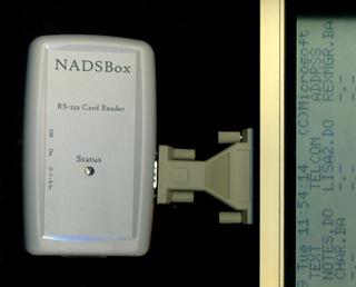 The NADSBox connected to the Model 100